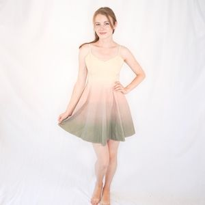 AFENDS Ombre Cotton Mini Dress Skater Ombre Tan